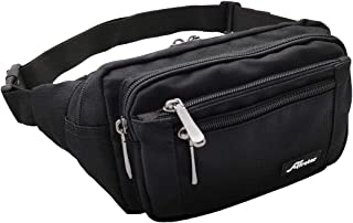 Afreter Waist Pack Bag Fanny Pack for Men Women Waterproof Hip Bum Bag with Adjustable Strap for Outdoors Workout Traveling Casual Running Hiking Cycling