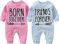 culbutomind Body de bebé Born Together Friends Forever Lindo Twins para recién nacidos