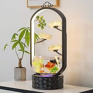 CDDJJ Goldfish Bowl Living Room Small Desktop Creative Landscaping Ecological Circulating Fish Tank Home