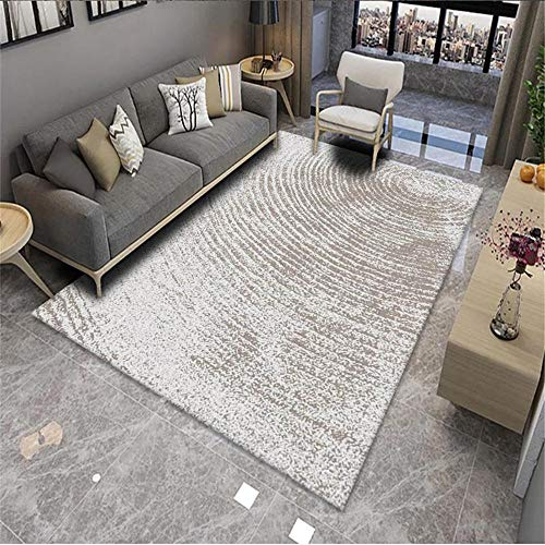 rug for childrens room Living room carpet gray curved blurred vintage pattern soft carpet durable Gray living room rugs extra large 100x160cm chair rug 3ft 3.4''X5ft 3''