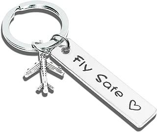 Pilot Gift Fly Safe Keychain Traveling Keychain Flight Attendant Gift