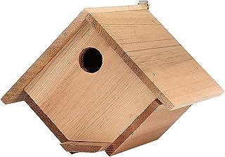 La jaula de pájaro de madera del cedro de aves al aire libre anticorrosivo Nido Can Transform manualmente el ahorcamiento ...