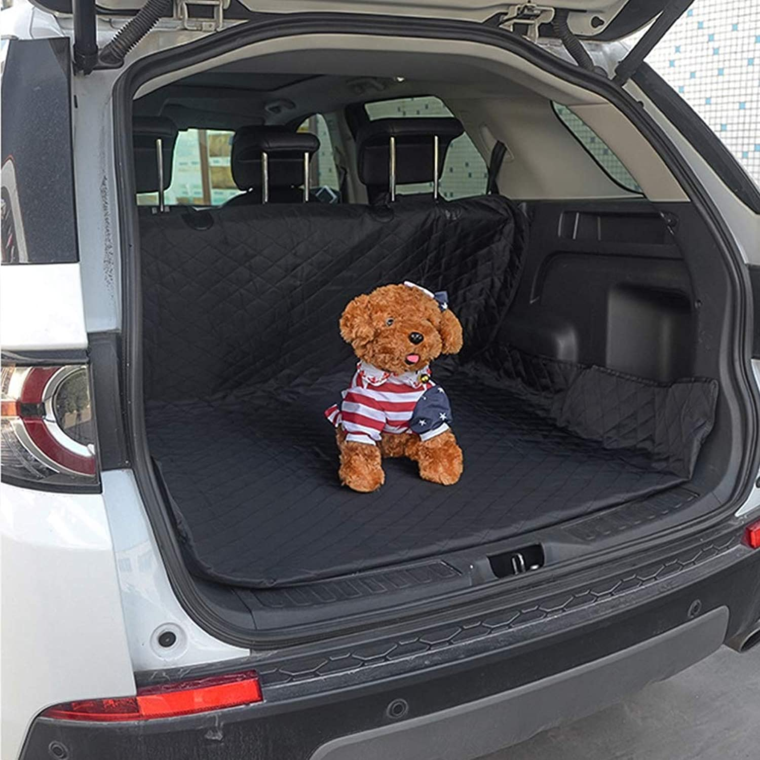 After The Medium SUV car Trunk Mat Waterproof Quilted Cotton Car truCnk Mat Dog Pad 208  132 cm600D Oxford Loth + PP Cotton + 210D Oxford Cloth + Slip Net