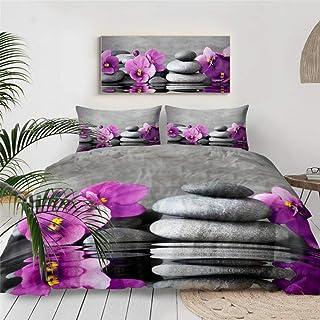 HXFJL Parure de lit 3D avec housse de couette et housse de couette Motif jardin zen 220 x 240 cm