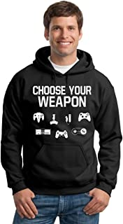 P&B Choose Your Weapon Gamer Funny Hooded Sweatshirt
