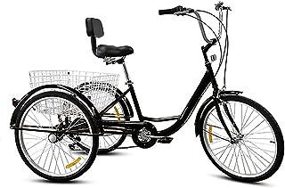 HENGGE Vuxen cykel trecykel, frakt trehjuling pedal trecykel, lämplig för vuxna och äldre trehjuling cykel