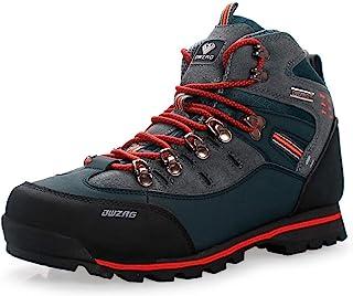 DWZRG أحذية رجالية مضادة للماء من الجلد وسط المشي لمسافات طويلة في الهواء الطلق خفيفة الوزن ومضادة للانزلاق أحذية رياضية ل...