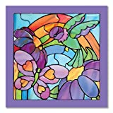 Melissa & Doug 14264 Glasmalereileichtgemacht-Regenbogengarten, Multicoloured -