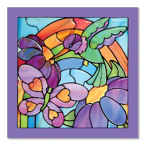 Melissa & Doug 14264 Glasmalereileichtgemacht-Regenbogengarten, Multicoloured