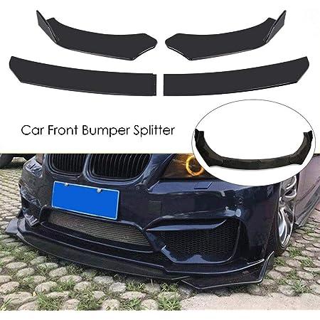Luckyx 4PCS Universal Car Front Bumper Protector Body Spoiler Fins Lip Canards Splitter Body Skirt Protector