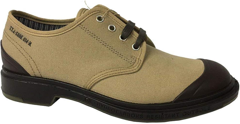 PEZZOL 1951 Herren Schuhe aus Leinwand Beige Gummisohle Mod Monster 014fz-49 (EU 44 - Vereinigtes Knigreich 9 1 2 - US 10 1 2)