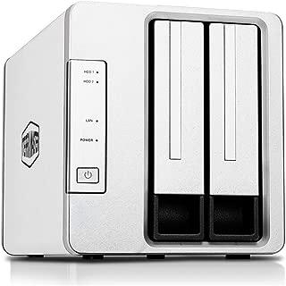 TerraMaster F2-221 2ベイ NAS 2.0GHz intelデユアルコア2GB スマホ/タブレット対応 (HDD付属なし)