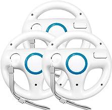 $24 » Jadebones 3pcs White Mario Kart Steering Wheel with Wrist Strap for Nintendo Wii