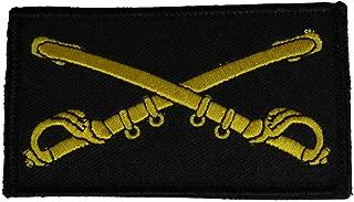 U.S. ARMY CAVALRY CROSSED SABERS 2 PIECE PATCH - Subdued Hook and Loop - Veteran Owned Business.