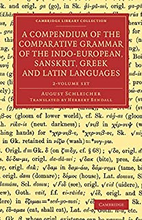 A Compendium of the Comparative Grammar of the Indo-European, Sanskrit, Greek and Latin Languages 2 Volume Set