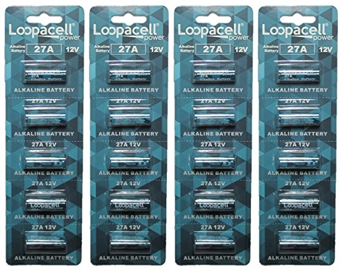 Loopacell A27 27A 23-279 MN27 12v Battery Pack of 20