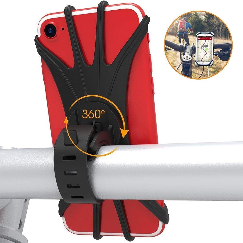 レタッチ抽選エレベーター自転車ホルダー スマホホルダー 360度回転 自転車携帯電話ホルダー 4-6インチのスマホに対応 GPSナビ固定