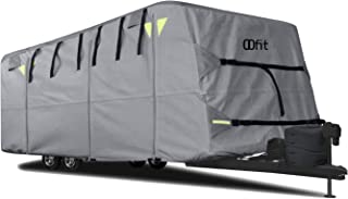 OOFIT Travel Trailer RV Cover Fits for 30' – 33'for RVs, Breathable Waterproof Anti-UV Weather Resistant Camper Cover, 4 - Ply Non-Woven Ripstop Fabric Roof, Adhesive Repair Patch