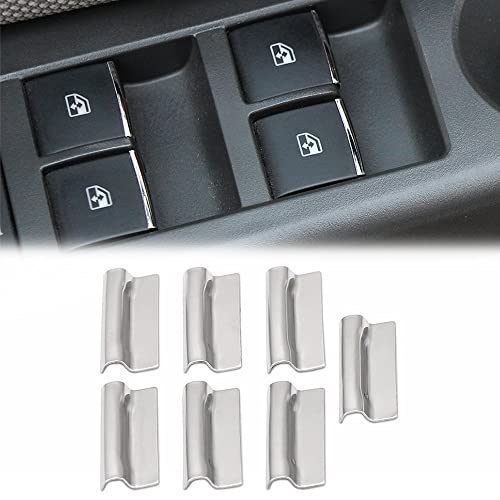 AndyGo Car Window Lift Buttons Sequins Sticker Decocation Fit for Chevrolet Cruze Malibu Aveo Trax Buick