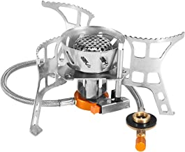 Lixada Camping Gas Stove,Convenient Piezo Ignition,Durable&Portable,Split Burner with..