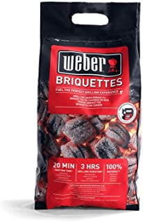 Weber 1759070 - Briquetas 4 kg, Negro