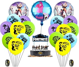 Fortnite Video Game Party Supplies Happy Birthday Cake Banners Topper Favors Foil Latex Balloons Video Gaming Party Theme ...
