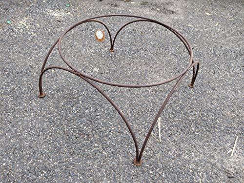 Zen Man Edelrost Gartenstander für Feuerschale Pflanzschale Gartendeko aus Metall Rost (031976-1:D48H28cm)