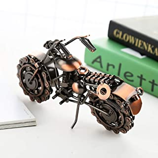 Home Décor 21cm * Width 8cm * Height 14cm Retro Motorcycle Model Metal Crafts Ornaments Creative Gifts Long (Color : Bronze)