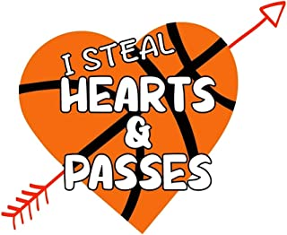 I Steal Hearts and Passes: Basketball Notebook Basketball Journal, Valentine Day Gift for Boys Girls