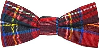 Traditional Red Tartan Check Bow Tie, Plaid, Stewart Tartan, Scotland, Highland