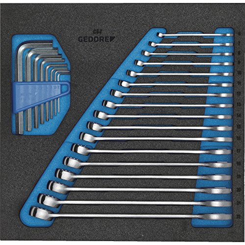 GEDORE 1500 CT2-7 Ring-Maulschlüssel-Satz in Check-Tool-Modul, 1 Stück