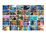 Paisaje hermoso del viaje del mundo 30 PCS postales retras artísticas - Venecia