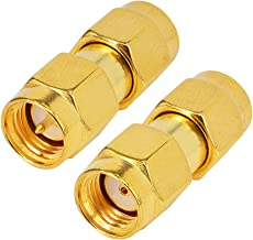 RF Coaxial Adapter SMA Male to RP SMA Male Female Pin Jumper Cable Connector for Audio FPV Antennas Radio Video Mobile Pack of 2