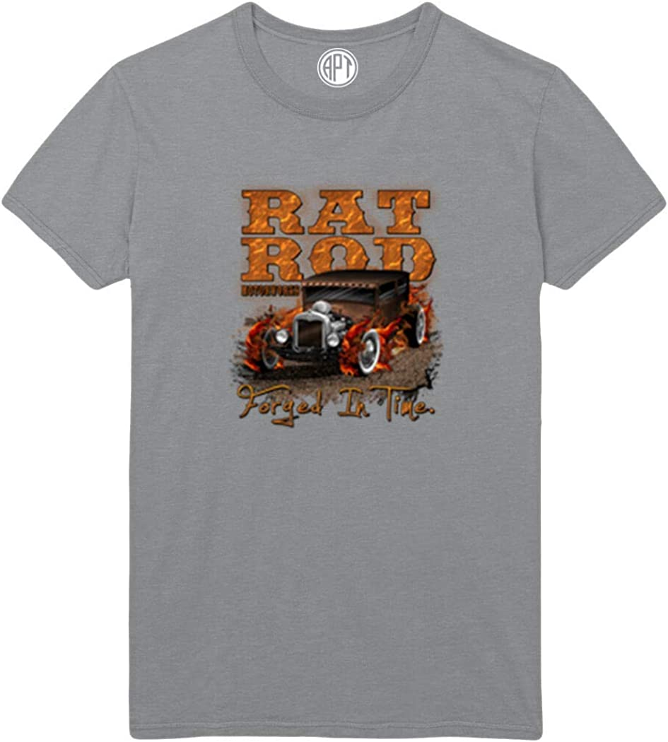 Rat Rod Forged in Time Printed T-Shirt