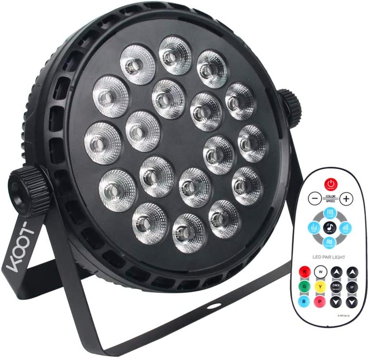 KOOT Stage Lights 72W RGBW High Bright Max 70% Recommended OFF Up Lighting Disco So DJ