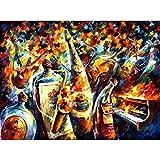 YYJHMK Bodegón Pinturas Modernas con Paleta Cuchillo Arte Óleo sobre Lienzo Botellas de Vino Banda Hecha a Mano