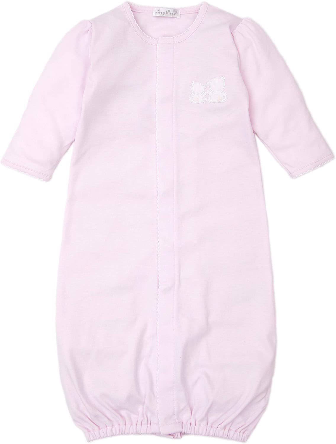 Kissy Kissy Baby-Girls Infant Pique Bare Backs Pink Convertible Gown