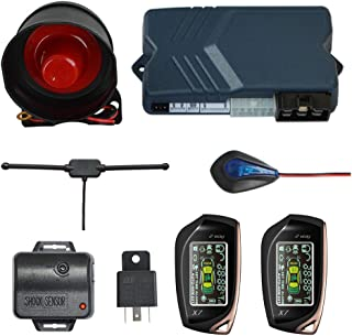 BANVIE 2 Way Car Security Alarm System with Remote Start Starter, Car Keyless Entry Central Door Locking, Trunk Release