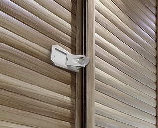 Sure Basics Sliding Door Lock, Grey/White (2 Pack)