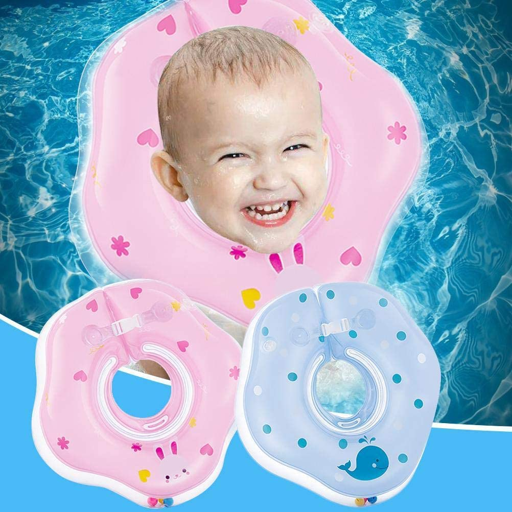 Baby-Schwimmschwimmer Baby-Kleinkind Aufblasbarer Hals Schwimmring f/ür Bad Schwimmen Badewanne Spielzeug Poolzubeh/ör f/ür Kinder Aufblasbarer Baby-Schwimmring,Halsring Babyschwimmen Baby-Schwimmring