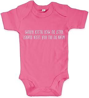 net-shirts Organic Baby Body mit WENN DU DAS LESEN Kannst Aufdruck Spruch lustig Strampler Babybekleidung aus Bio-Baumwolle mit Zertifikat