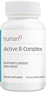 HumanN Active B-Complex Daily Energy & Mood Enhancing Supplement (30 Fast-Melting Tablets)