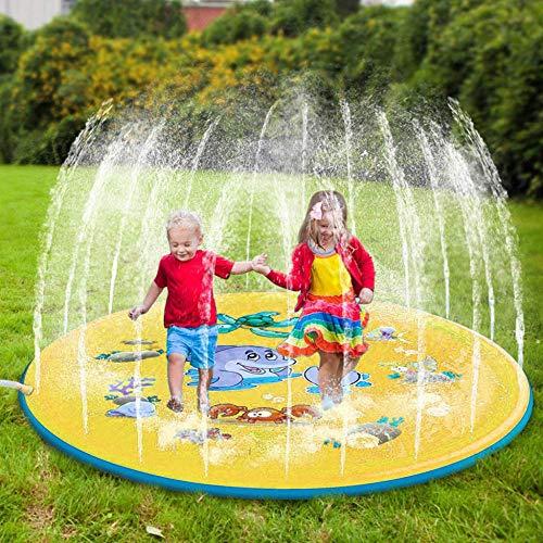 XIAOTAIZINAI Wassermatten-Sprühkissen Aufblasbarer Sprinkler für Kinder Kinderpolster Pool-United_States