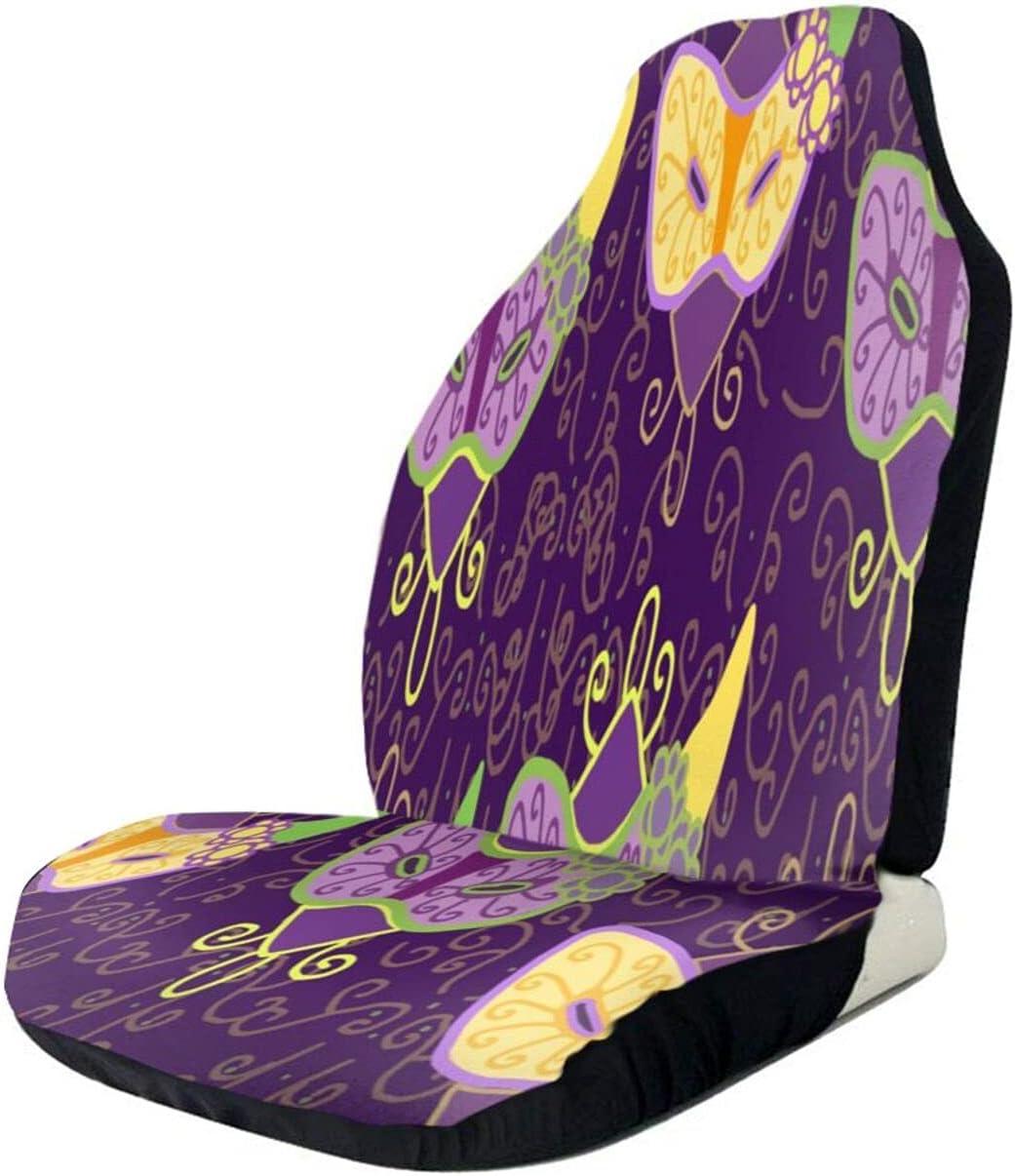 Mardi Gras Mask supreme Flower Abstract Art Nonslip 1 Seat Car Spasm price Sof Cover