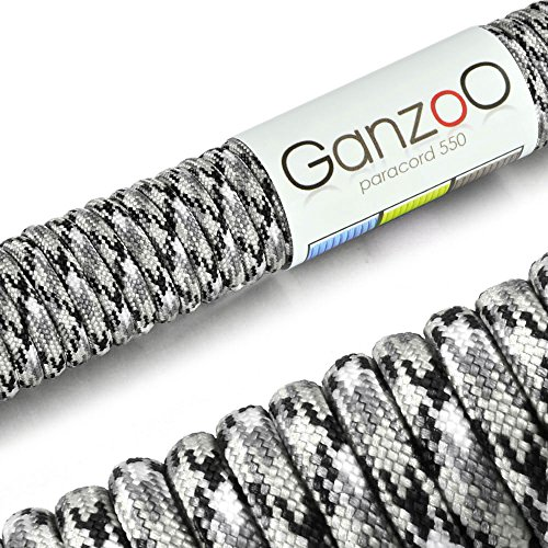 Ganzoo Paracord 550 Seil für Armband, Leine, Halsband, Nylon-Seil 30 Meter, Multicolor
