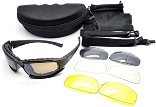 Military Sunglasses, Polarized Army Goggles 4 Lens Kit Tactical Goggles Blocking Glare,UV Blocking Tactical Shooting Goggles Polarized Cycling Sunglasses Military Sunglasses Outdoor Tactical Goggle
