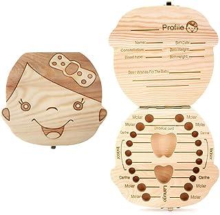 Sierra - Boîte pour conserver les dents de lait des bébés, en bois de pin de l'odeur agréable (enfant)