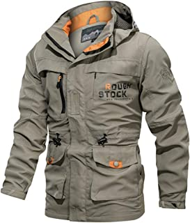Umitay Mens Splice Quilted Lined Workwear Jackets Coats Oversized Activities Working Jacket Warm Lining Winter Bomber Coat