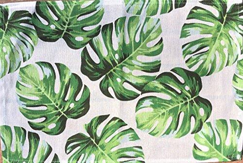 Unbekannt Juego de 6 Salvamanteles Manteles Individuales de Tela Hojas Monstera Philodendron Tropical 45x30 cm