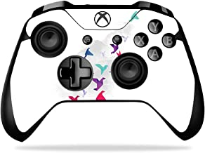 MightySkins Skin Compatible with Microsoft Xbox One X Controller - Paper Birds   Protective, Durable, and Unique Vinyl Decal wrap Cover   Easy to Apply, Remove, and Change Styles   Made in The USA